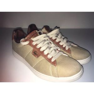 Other - Summer Lacoste canvas/leather tennis shoes sz 9.5